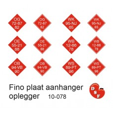 Fino plaat Stickers