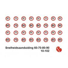 Snelheidsaanduiding 60-70-80-90