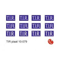 Tir plaat Stickers