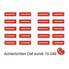 DAF Euro 6 achterlichten led met effect
