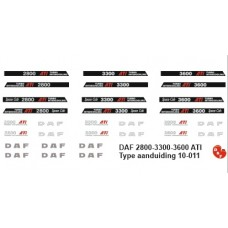 DAF 2800 3300 3600 type set