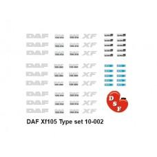 DAF XF 105 Type set