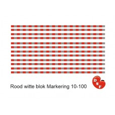 Rood witte blok markering