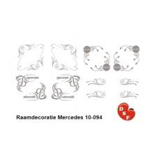 Raamdecoratie Mercedes