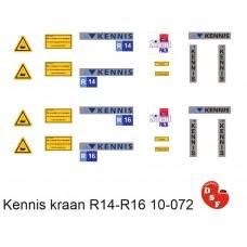 Kennis kraan set R14 R16