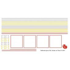 Reflectie lijnen- strepen voor oplegger en combinatie